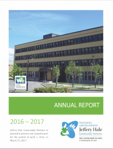Jeffery Hale Annual Report cover